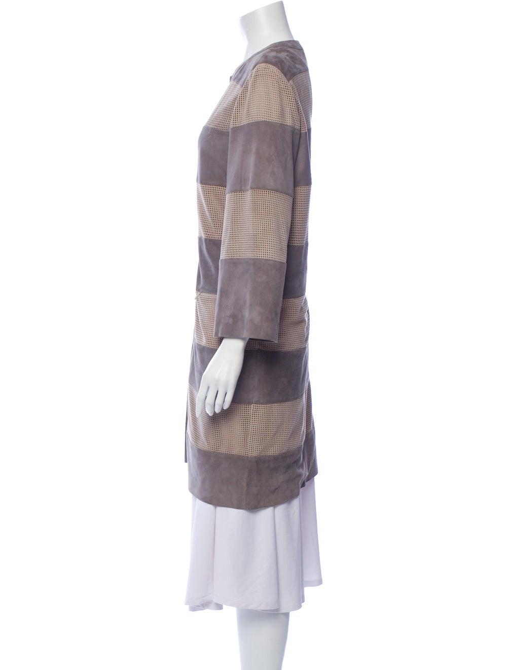 Davide Cenci Striped Coat Grey - image 2