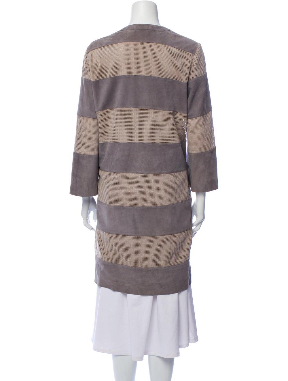 Davide Cenci Striped Coat Grey - image 3