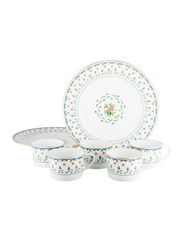 Céralene A. Raynaud Limoges 7-Piece Floral Partial-Table Service None