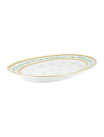 Céralene A. Raynaud Limoges Morning Glory Spray Platter None