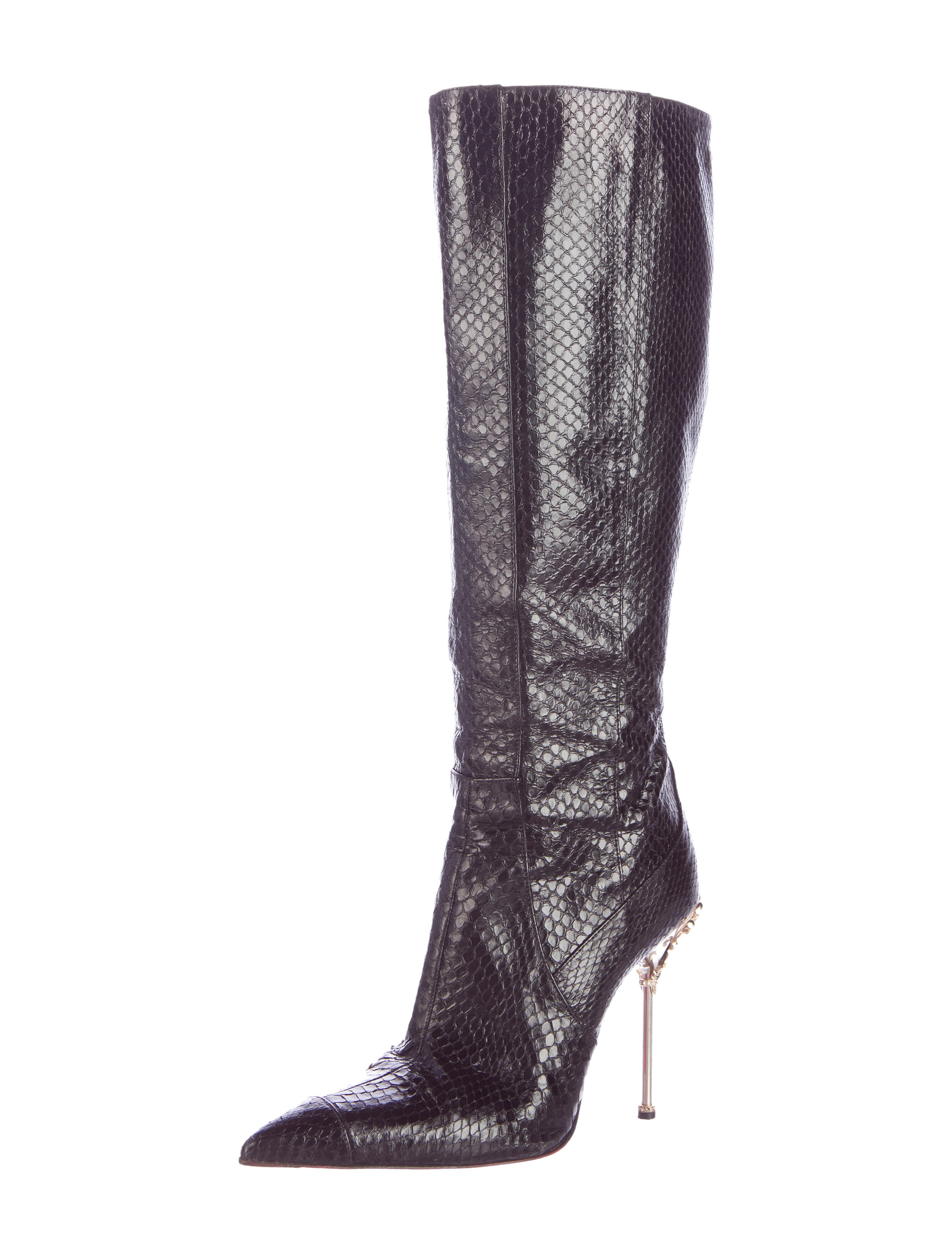 outlet 2015 sale collections Cesare Paciotti Snakeskin Pointed-Toe Booties cheap 2014 new discount recommend DdMVZl