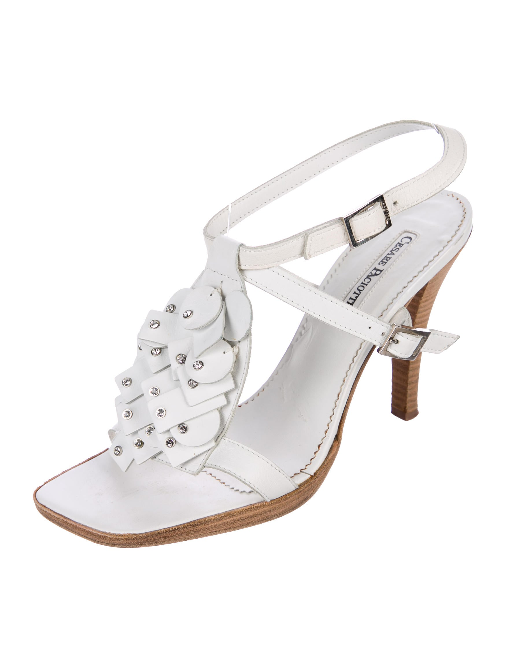 footlocker pictures online outlet good selling Cesare Paciotti Embellished Leather Sandals buy cheap order cheap sale with paypal 3t03j