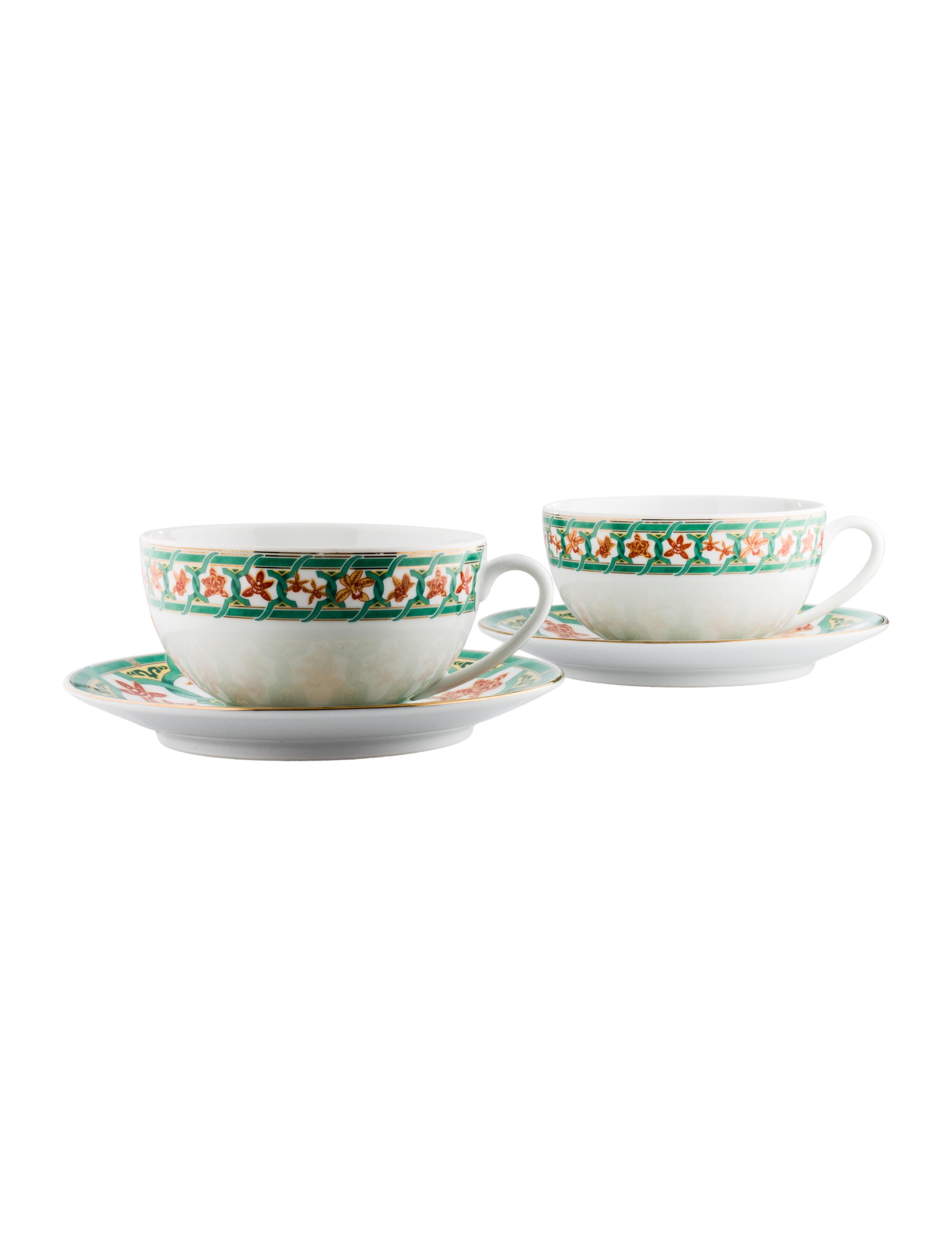 8ebafc6fc6 Christofle Ginkgo Cups and Saucers - Tabletop & Kitchen - CFL20018 ...