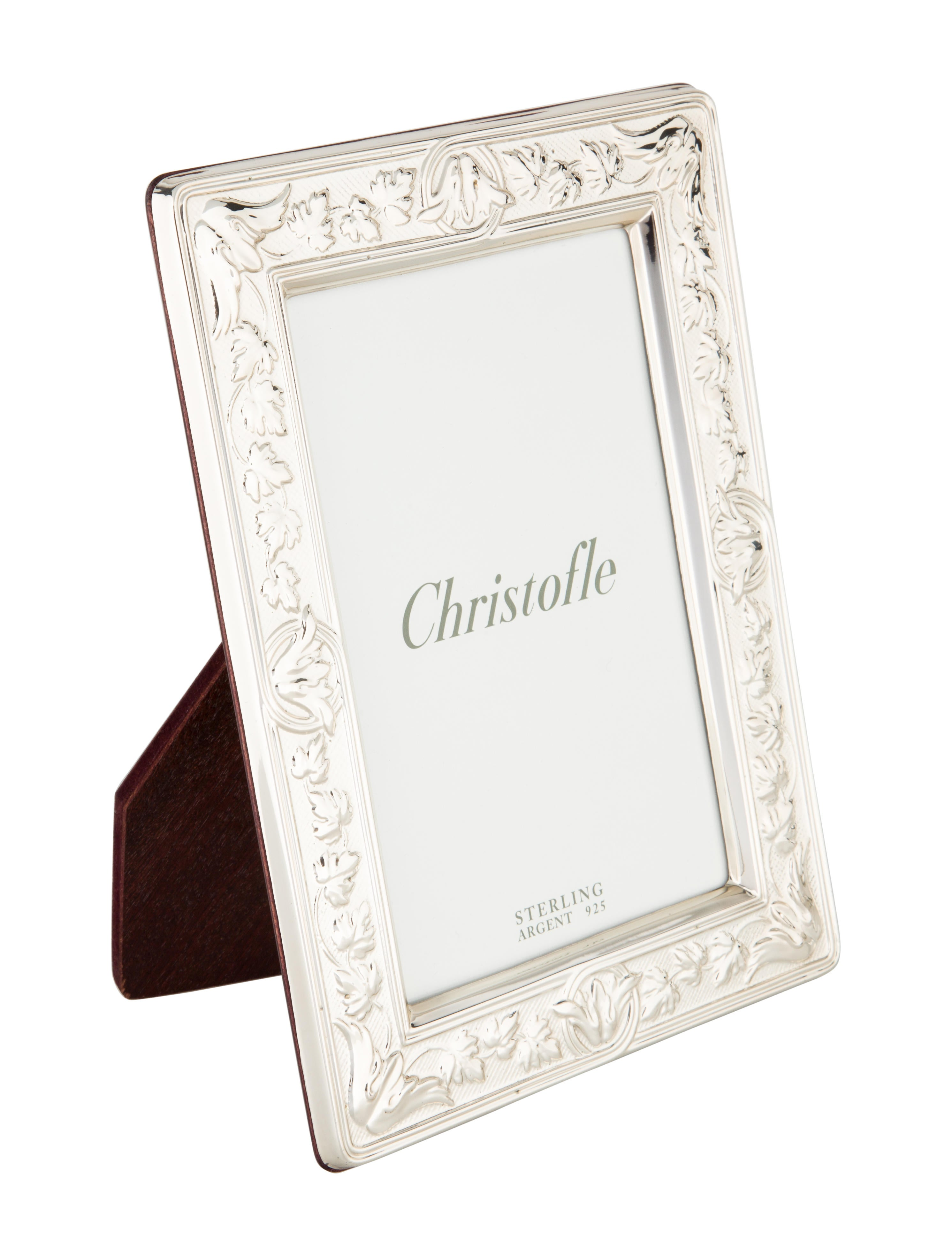 Christofle sterling silver picture frame decor and for Artistic accents genuine silver decoration