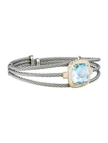 Nautical Topaz Cable Bracelet