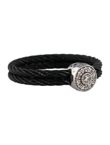 Celtic Noir Collection Nautical Cable Ring w/ Diamonds