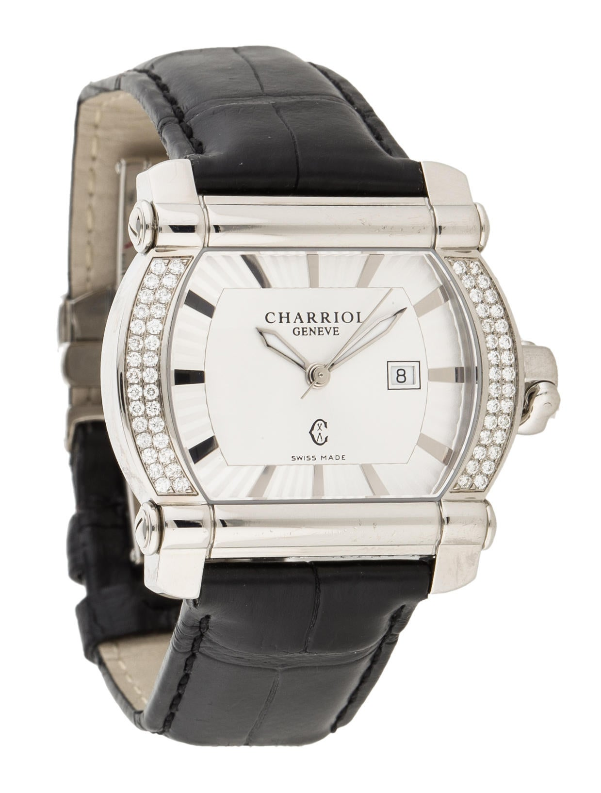 Charriol actor diamond watch strap ch120208 the realreal for Actor watches