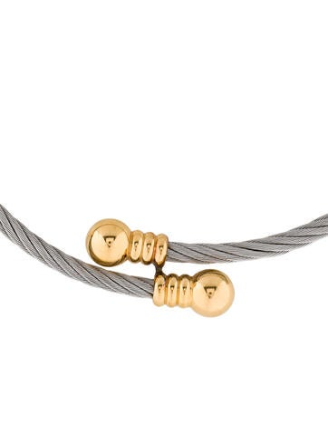 18K and Sterling Silver Cable Bypass Choker