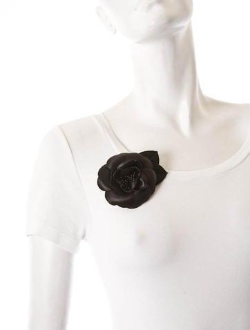 Satin Camellia Brooch