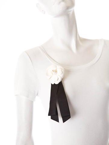 Silk Camellia Brooch