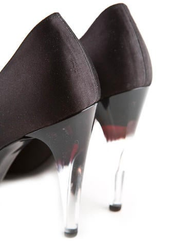 Satin and Acrylic Pumps