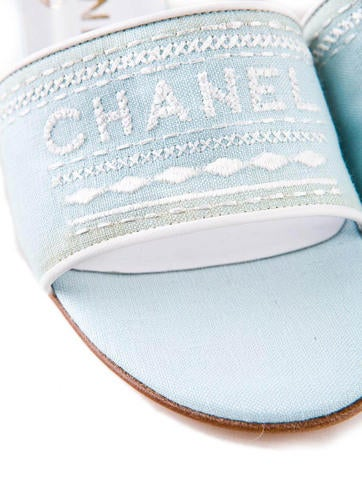 Logo Embroidered Mules