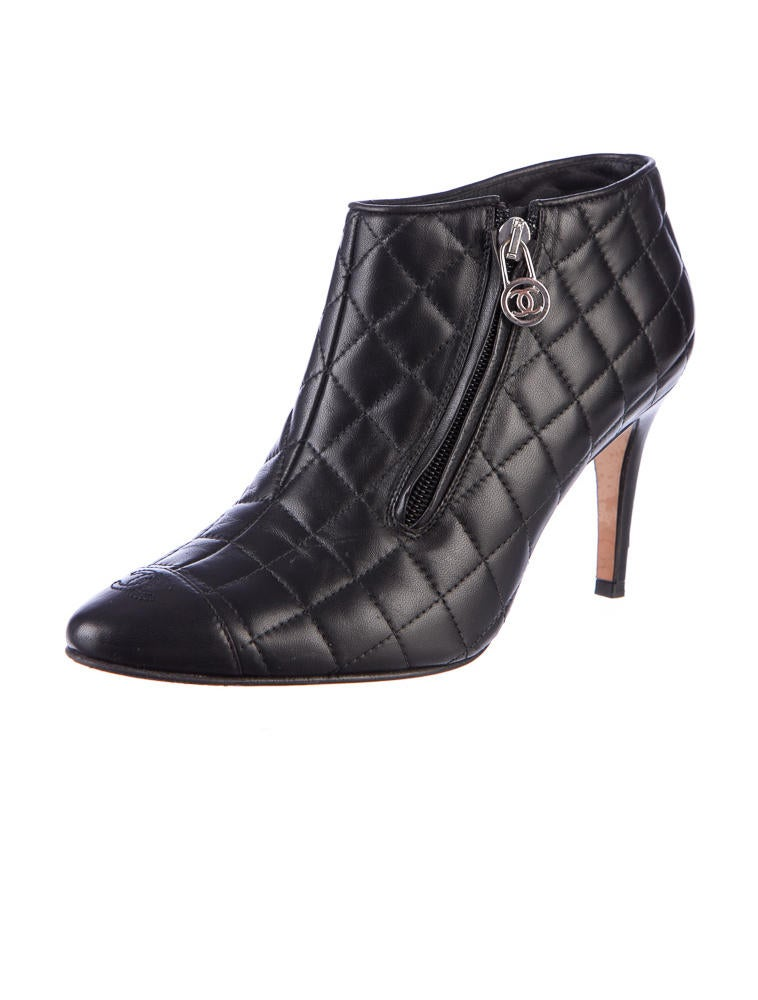 Chanel Quilted Booties - Shoes - CHA07667 | The RealReal : quilted booties - Adamdwight.com
