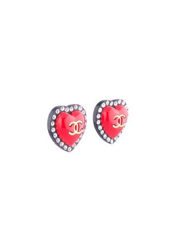 Clip-On Heart Earrings