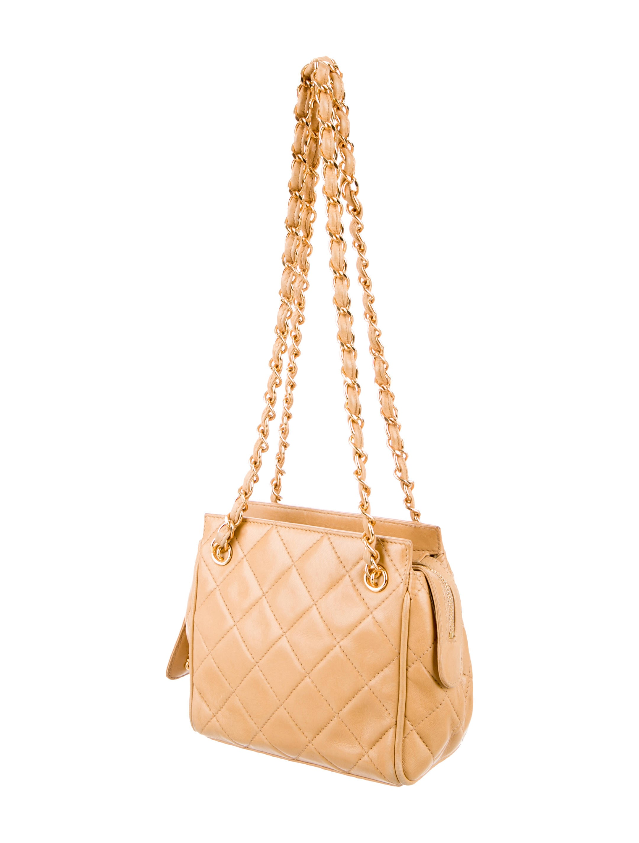 Chanel Vintage Quilted Lambskin Shoulder Bag Handbags  : CHA1024393enlarged from www.therealreal.com size 2160 x 2850 jpeg 225kB