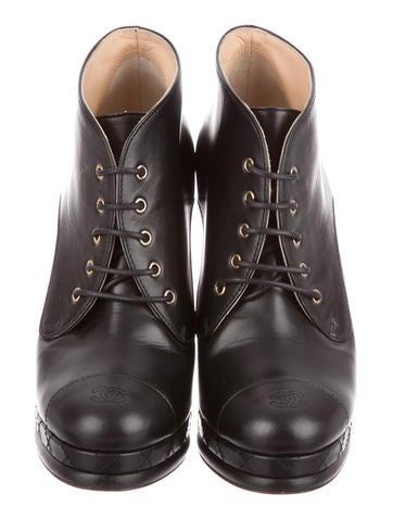 Leather Platform Booties