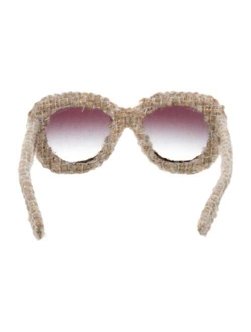 68722c9bef7a5 Chanel Tweed Oversize Sunglasses w  Tags - Accessories - CHA102675 ...