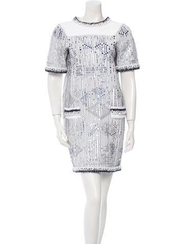 Chanel Metallic Shift Dress w/ Tags None