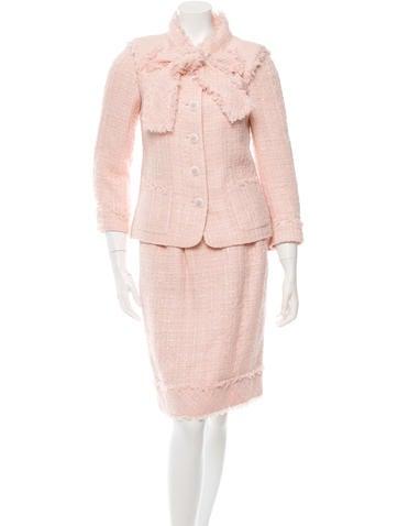 Silk Tweed Skirt Suit