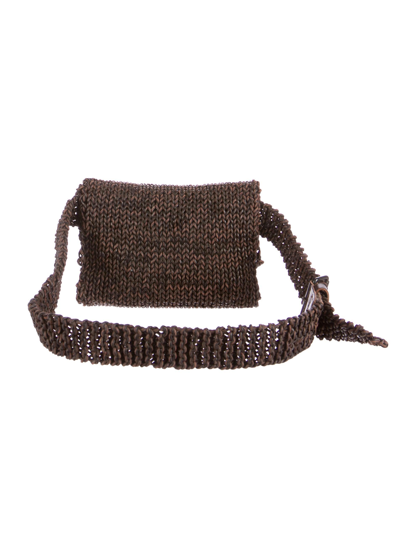 Chanel Crochet Leather Flap Waist Bag Handbags