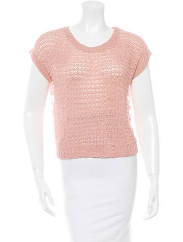 Chanel Lace Inset Sweater None