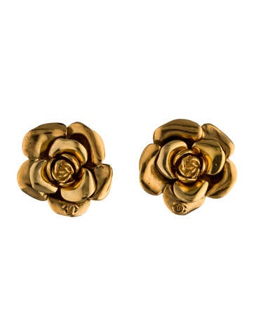 CC Camellia Clip-On Earrings