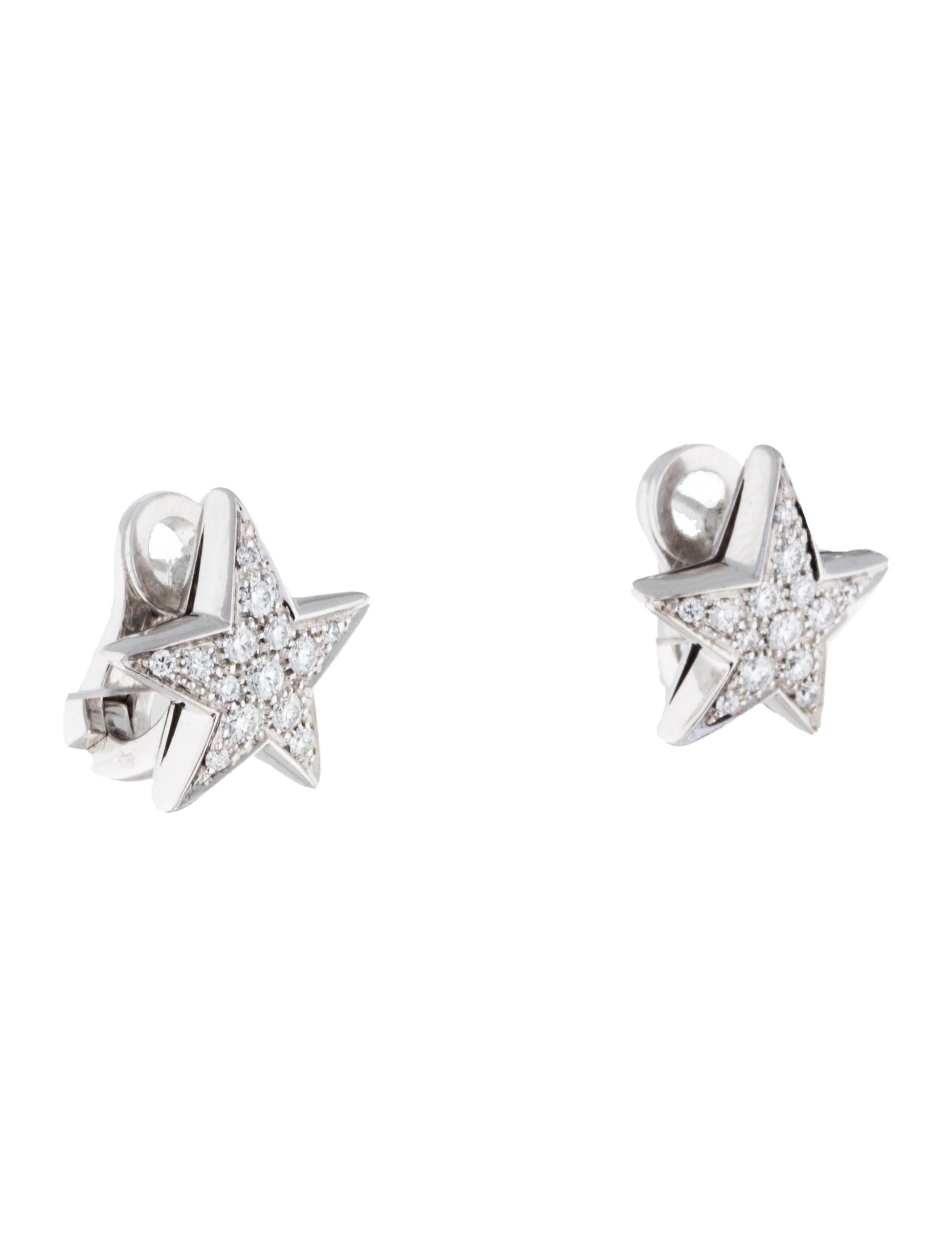 chanel com te diamond earrings earrings cha105613. Black Bedroom Furniture Sets. Home Design Ideas