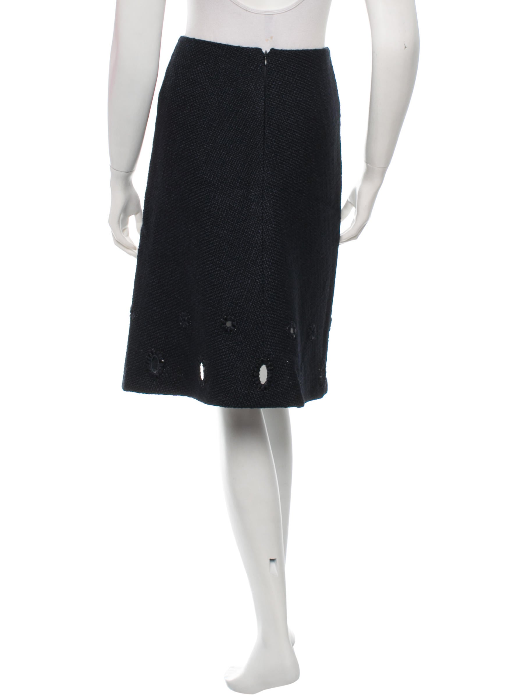 chanel a line tweed skirt clothing cha106100 the