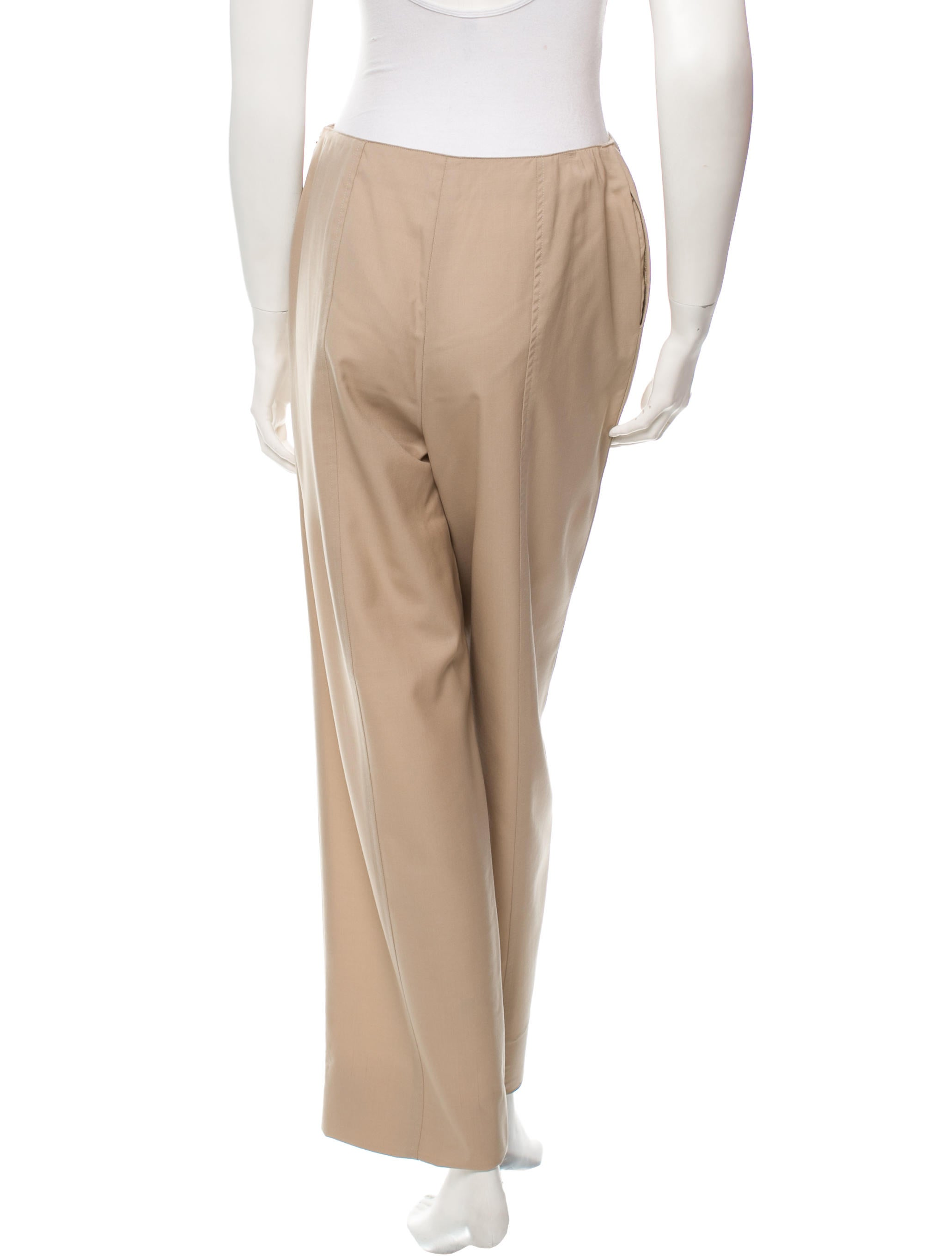 Description. Our super stylish Made In Italy Matilde Khaki Green Wide Leg Linen Trousers not only look good but they are so super comfortable! We love the style of these fabulous wide leg trousers and they have an elasticated waist for a comfortable fit.