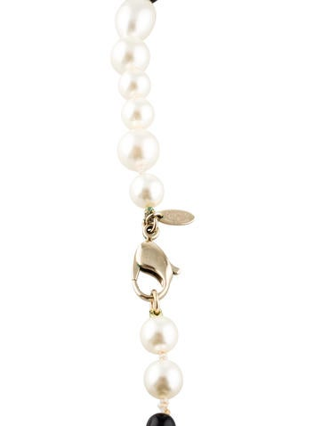 Double-Strand CC Pearl Necklace