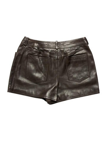 Leather Mini Shorts