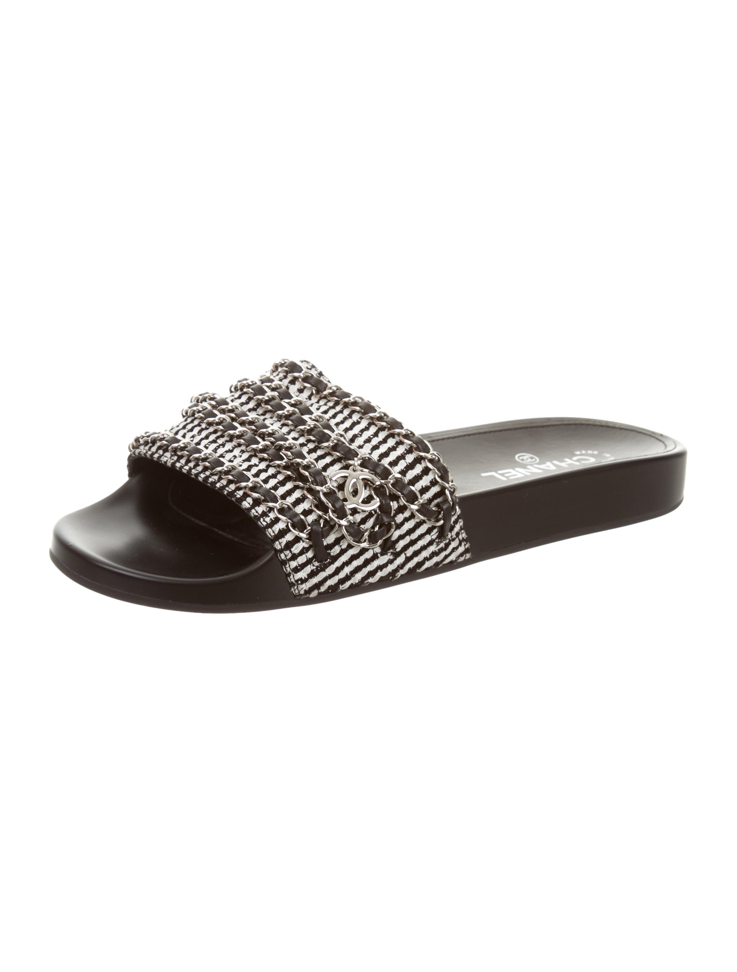 Hermès Chain-Link Slide Sandals w/ Tags for cheap sale online klI8hgpo4W