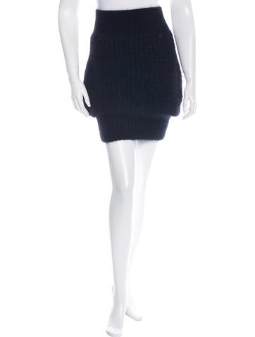 Chanel Angora Knit Skirt None