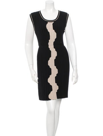 Chanel Pleated Wool Dress w/ Tags None