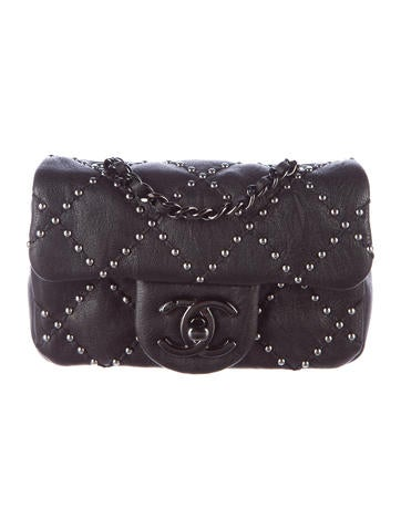 Paris-Dallas Studded Extra Mini Flap Bag