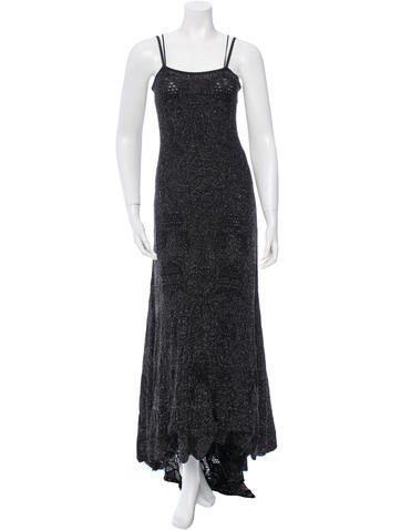 Chanel Metallic Sleeveless Gown w/ Tags None