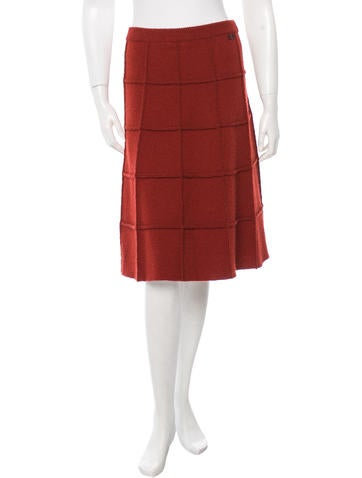 Chanel Quilted Knit Skirt None