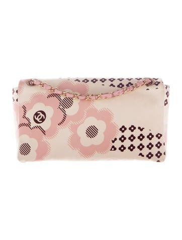 Satin Camellia Flap Bag