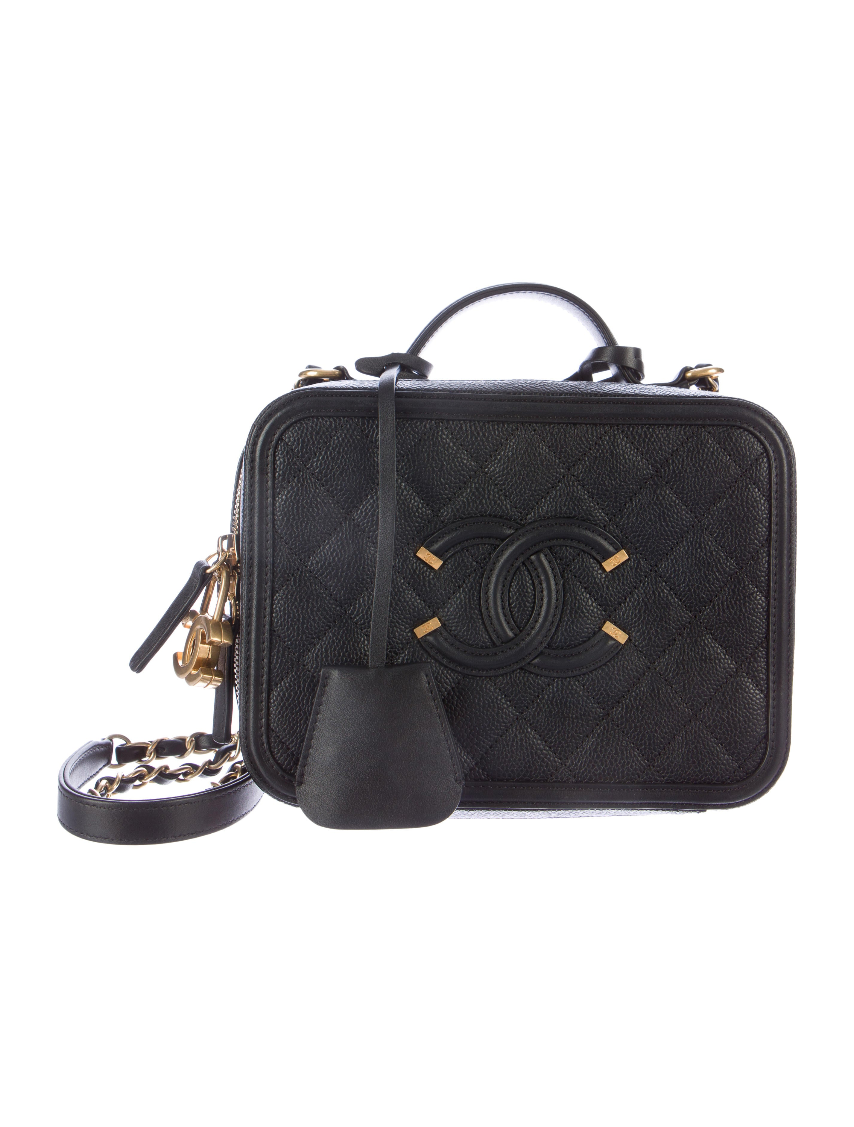 f55a0d414a7cd4 Chanel CC Filigree Vanity Case Bag - Handbags - CHA113804 | The RealReal