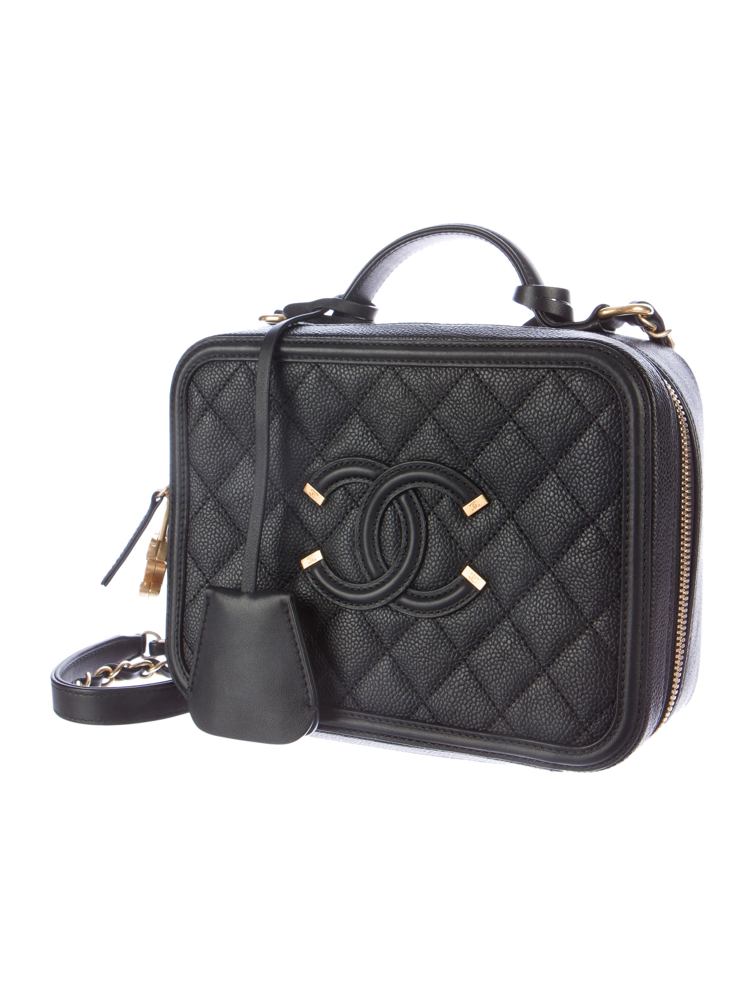Chanel Cc Filigree Vanity Case Bag Handbags Cha113804