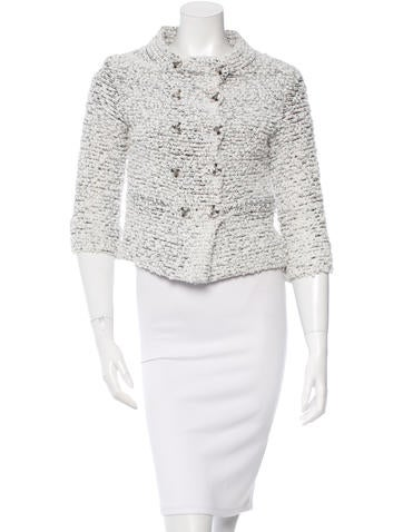 Bouclé Double-Breasted Jacket