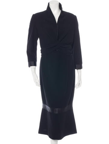 Chanel Wool Midi Dress None