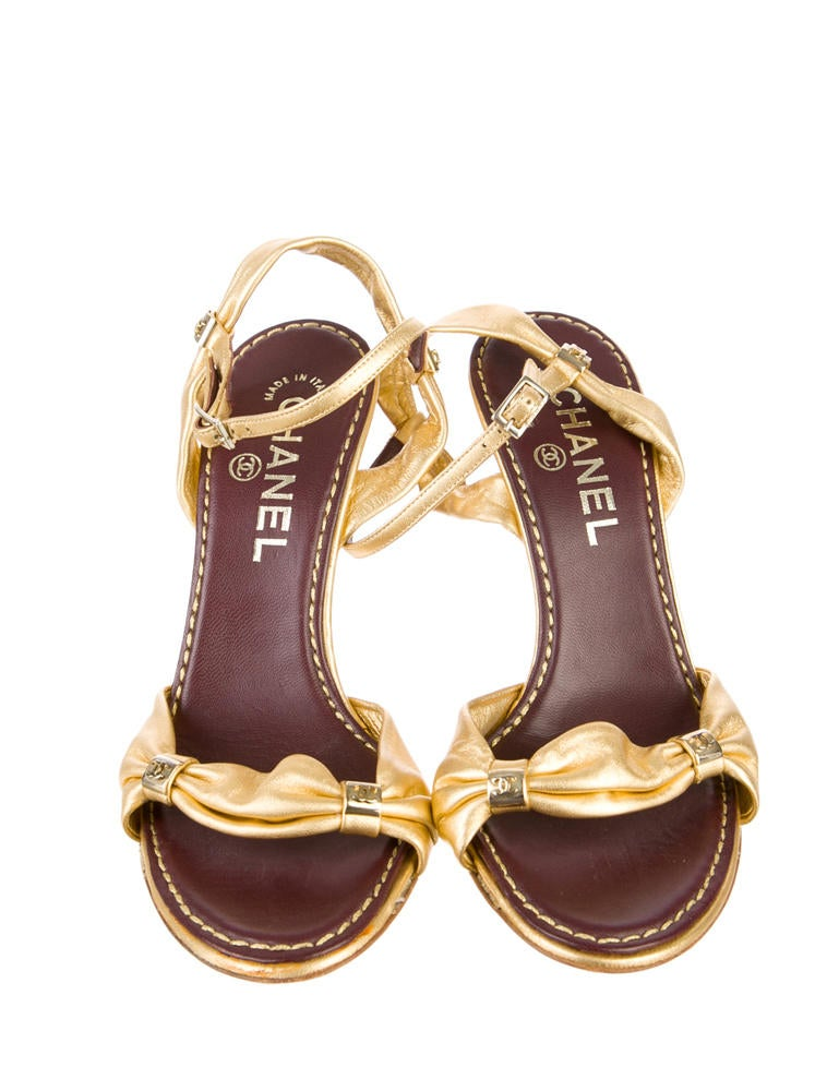 Chanel Leather Sandals - Shoes - CHA114724 | The RealReal