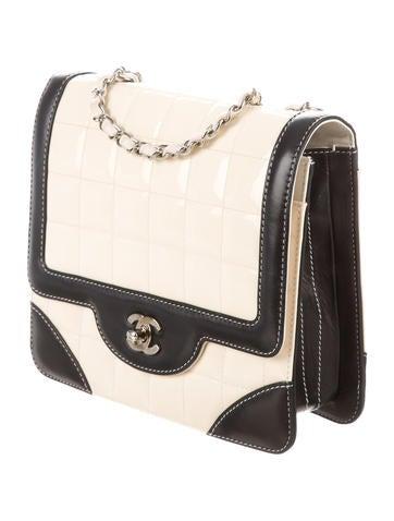 Square Chocolate Bar Flap Bag