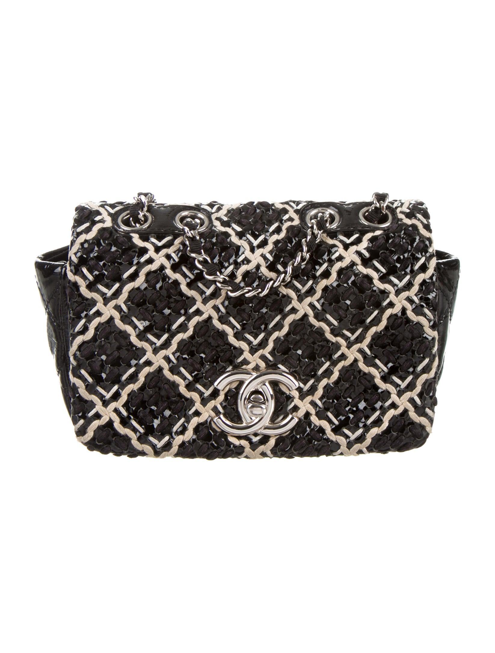 b76e8818b582 Chanel Patent Tweed Mini Classic Flap Bag - Handbags - CHA115835 ...