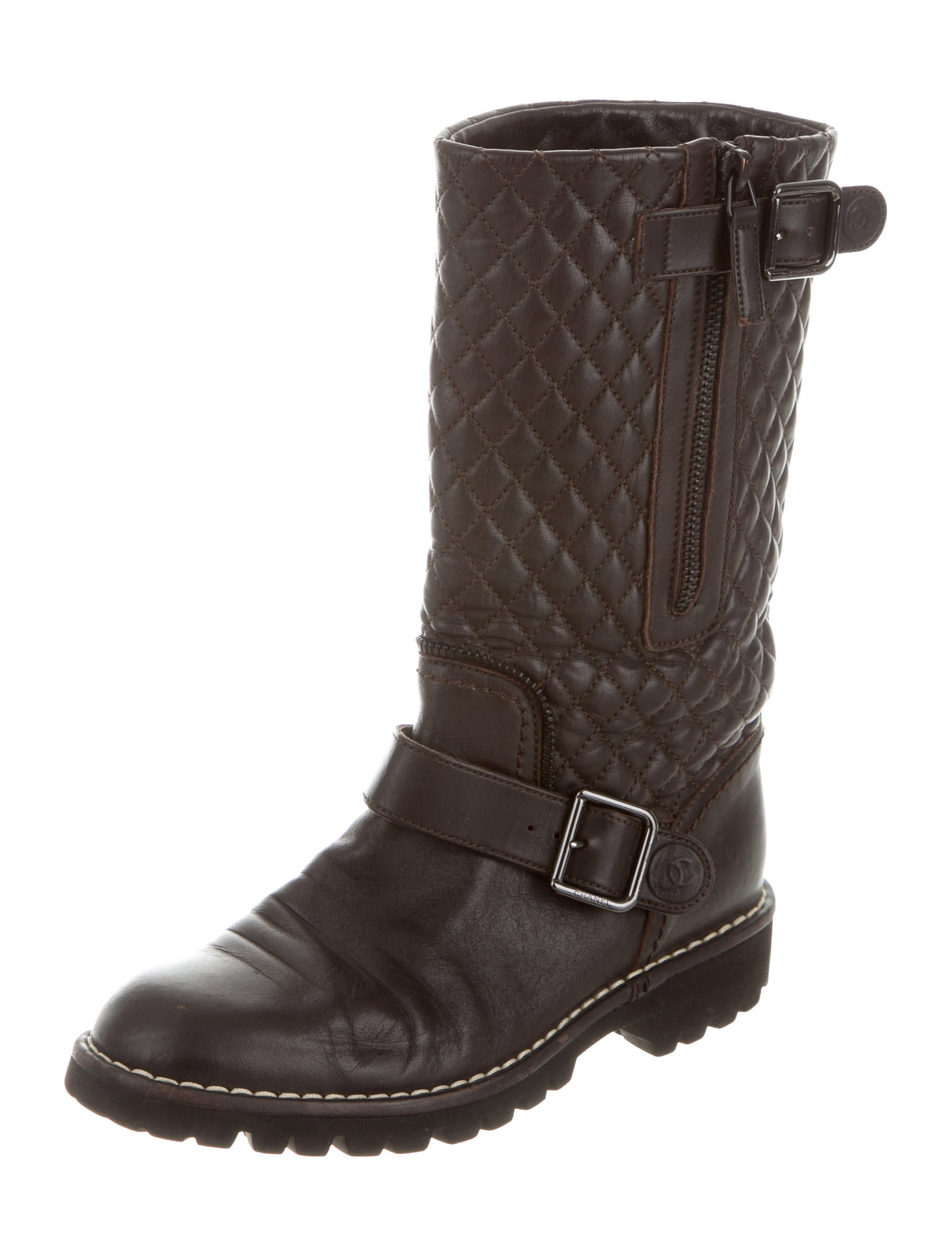 chanel quilted leather ankle boots shoes cha116251