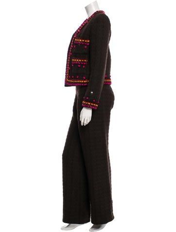 Wool Woven-Detailed Pantsuit