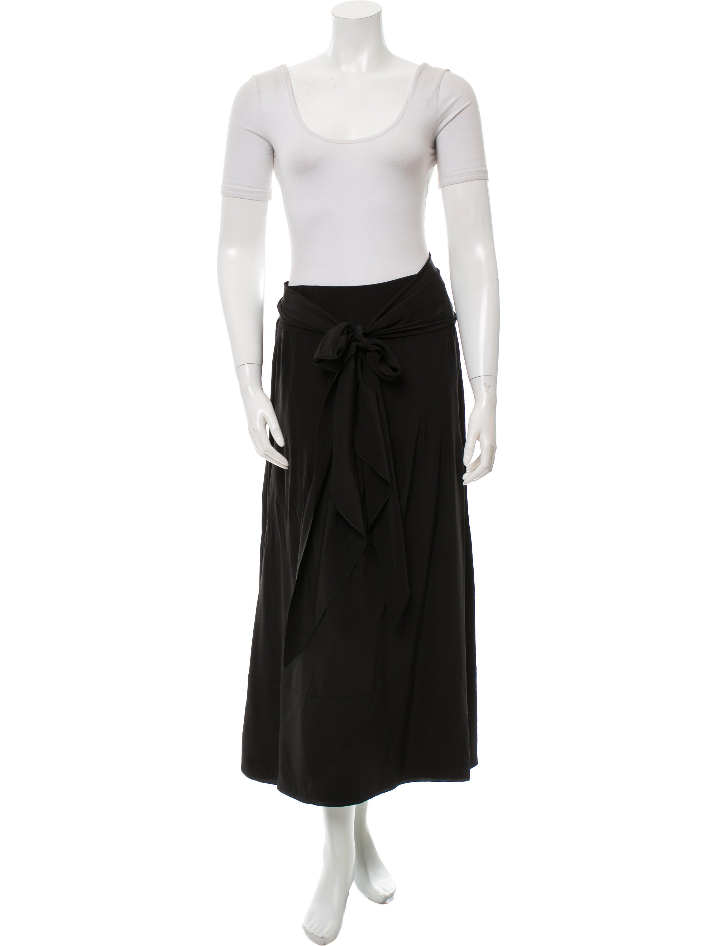 chanel silk midi skirt set clothing cha117157 the