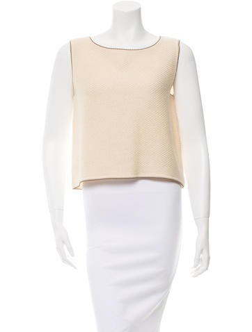 Chanel Wool Blend Sleeveless Top None