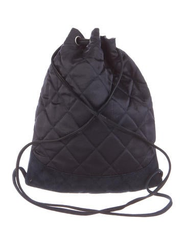 Vintage Quilted Satin Backpack